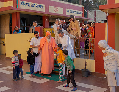 Swamiji with the children