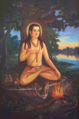 Acharya Shrichandraji sitting in meditation
